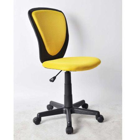 Pisarniški stol rumena