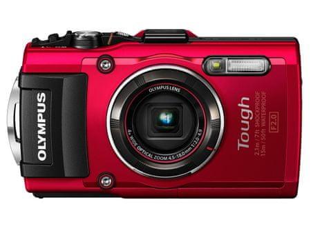 OLYMPUS Tough TG-4 Digitális fényképező, Piros