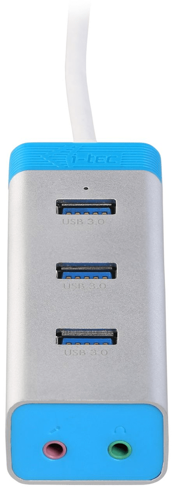 I-TEC USB3.0 HUB 3port Metal s Audio adaptérem