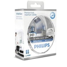 Philips žarnica Halogen H1 12V + W5W White Vision (Xenon efekt)
