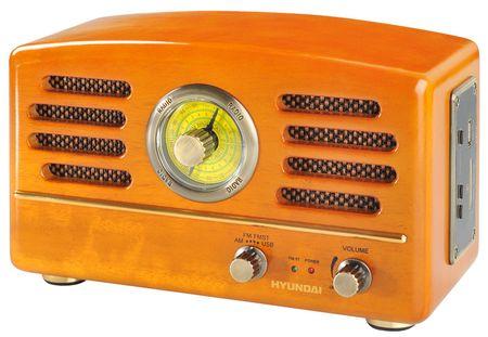 Hyundai retro radio RA 302, oranžna
