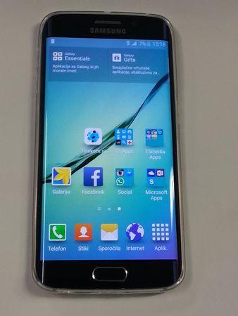 ultra tanek silikonski ovitek za Samsung Galaxy S6 Edge G925, prozoren