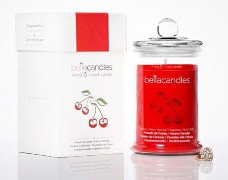 BellaCandles svijeća Cherry Paradise, velika + prsten