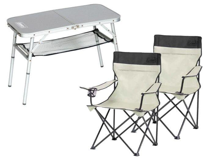 Coleman Set stolek Mini Camp + dvě židle Standard Quad