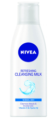 Nivea Osviežujúce čistiace pleťové mlieko na normálnu až zmiešanú pleť Aqua Effect 200 ml