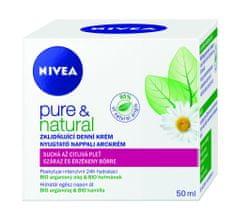 Nivea Upokojujúci denný krém pre suchú až citlivú pleť Pure & Natural 50 ml