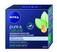 Nivea Regeneračný nočný krém na všetky typy pleti Pure & Natural 50 ml