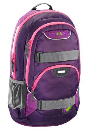 CoocaZoo Plecak szkolny Rayday, Purple Magentic