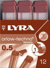 Lyra mine za tehnični svinčnik Polymer 0,5mm HB 1/12 (L5001100)
