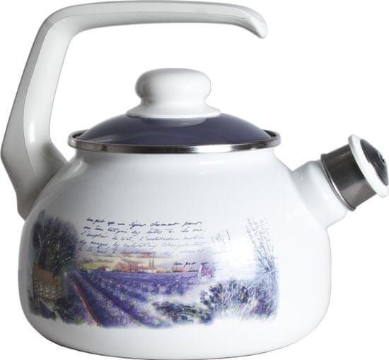 Metalac Čajová konvice s píšťalkou levandule, 2,5 litrů