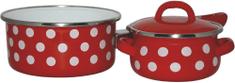 Metalac Sada nádobí Červený puntík, 3 díly