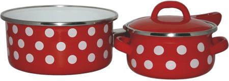 Metalac Sada nádobí Červený puntík, 3 díly - rozbaleno