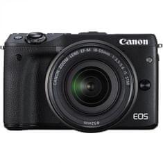 Canon digitalni fotoaparat EOS M3 18-55 IS STM, črn