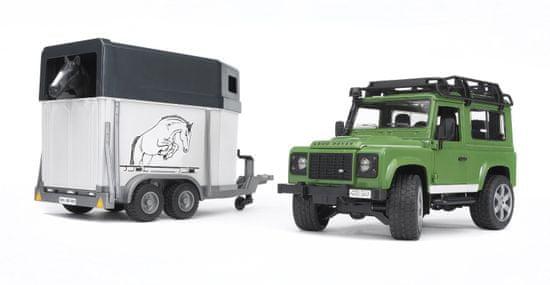 Bruder Land Rover s prikolicom i konjem