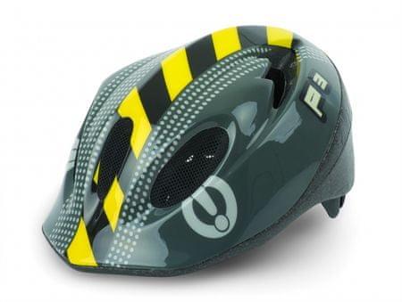 Polisport otroška kolesarska čelada P3 Caution, črna (50 - 56 cm)