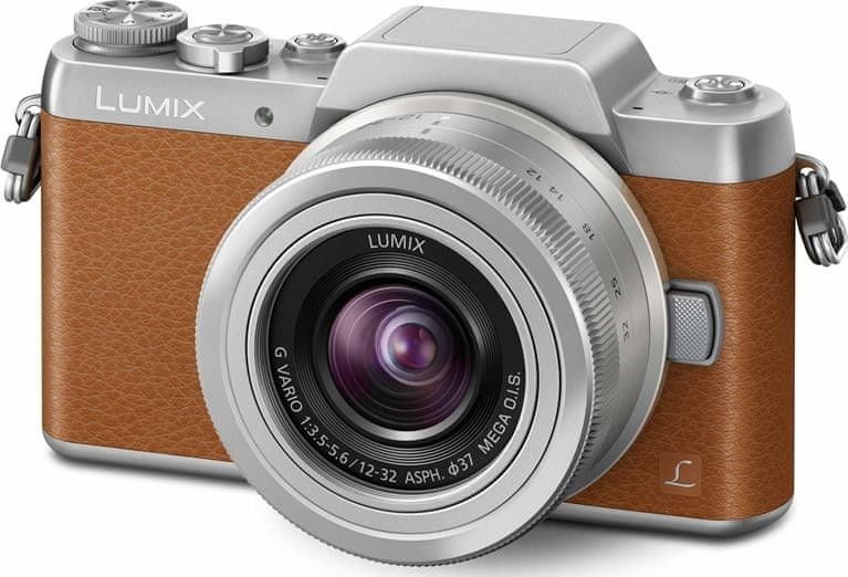 Panasonic Lumix DMC-GF7 + 12-32 mm Silver/Brown (DMC-GF7KEG-T)