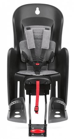 Polisport otroški sedež Bilby RS, črno/siv