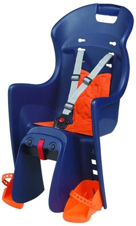 Polisport otroški sedež za prtljažnik Boodie, moder/oranžen