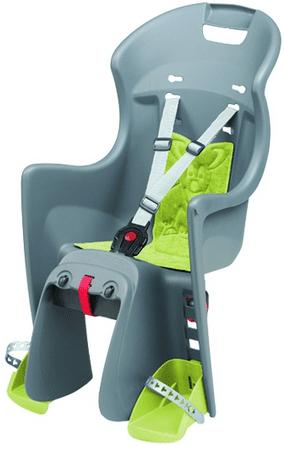 Polisport otroški sedež za prtljažnik Boodie, siv/zelen