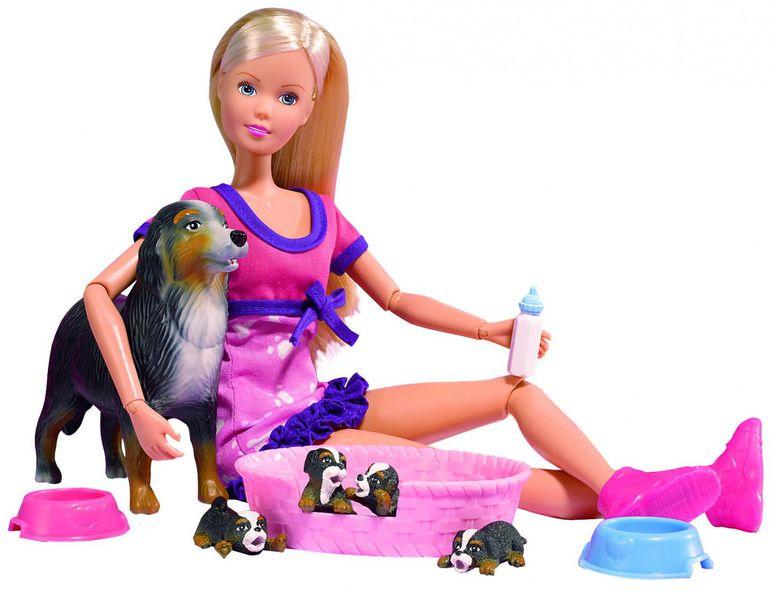 Simba Panenka Steffi s pejskem a štěňátky