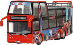 DICKIE Autobus dwupiętrowy 29 cm, czerwony