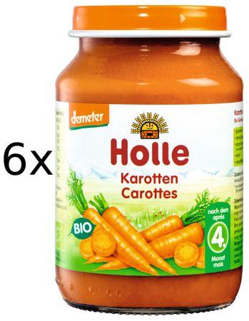 Holle Bio Mrkev - 6 x 190g
