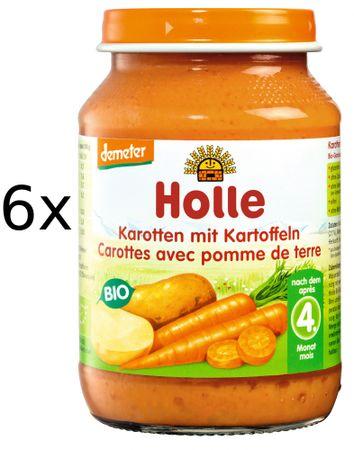 Holle Bio Mrkva a zemiaky - 6 x 190g