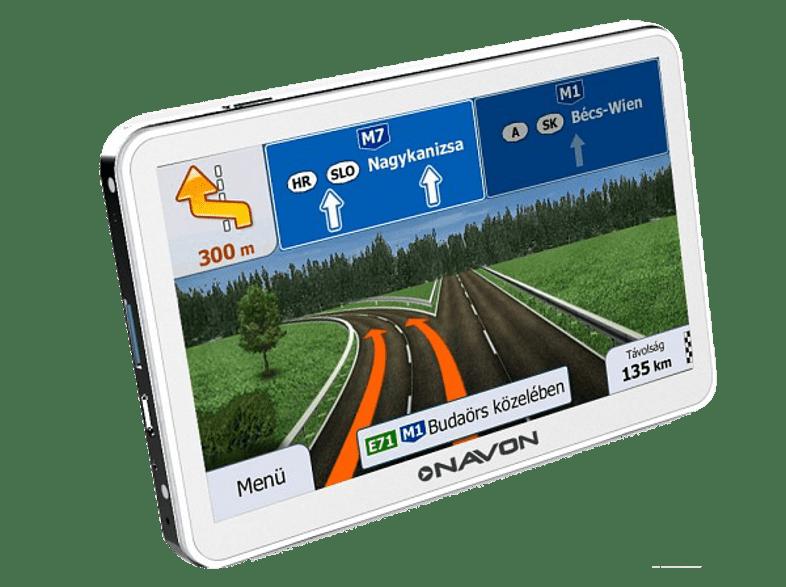 igo magyarország térkép Navon N670 PLUS WHITE 5