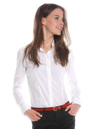 Timeout dámská košile s dlouhým rukávem L bílá - Parametry  0698377fde