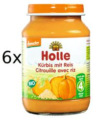 Holle Bio Dýně s rýží - 6x190g