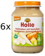 Holle Bio Pastiňák s bramborem - 6x190g