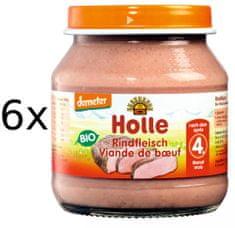 Holle Bio Hovězí maso - 6 x 125g