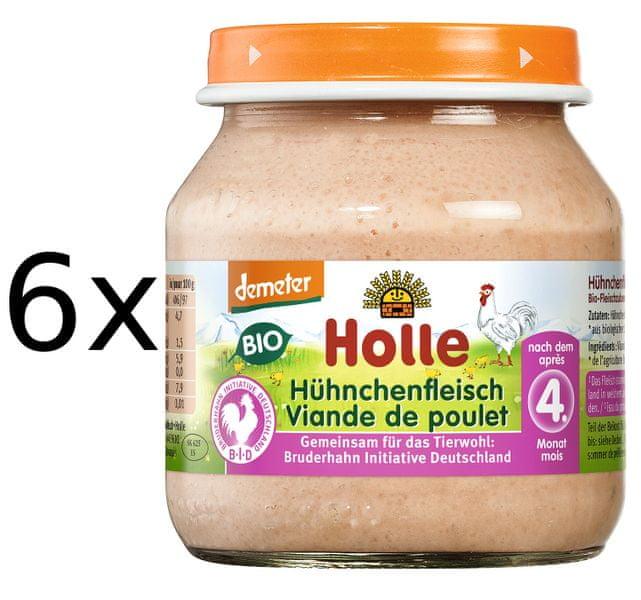 Holle Bio Kuřecí maso - 6 x 125g