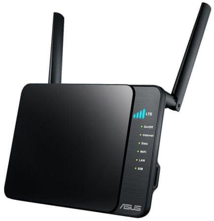 Asus brezžični usmerjevalnik 4G-N12 WLAN UMTS 4G LTE 2.4GHz 300Mbps