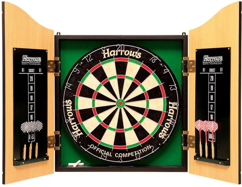 Harrows Sisalový terč se skříňkou Pro's Choice Complete Set