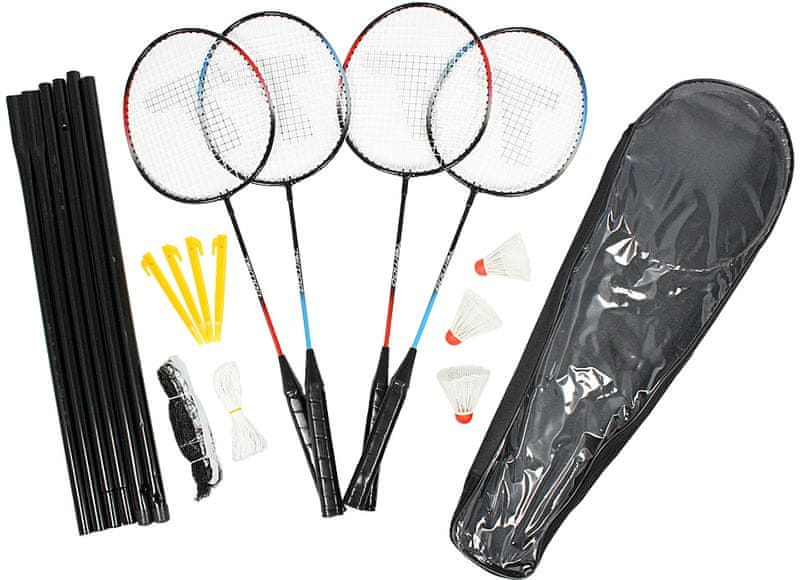 Eddy Toys Badmintonový set pro 4 hráče se síťkou