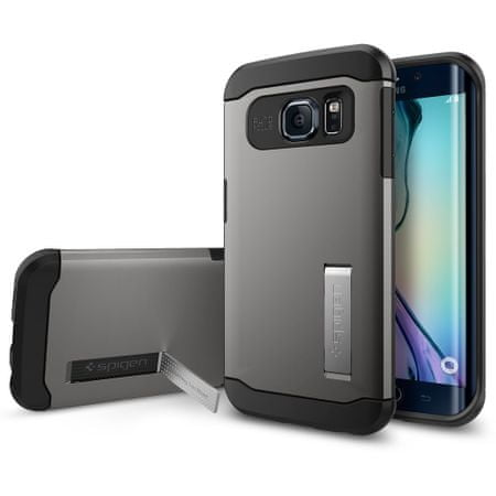 Spigen ovitek Slim Armor za Samsung Galaxy S6 Edge, rjavo-siv