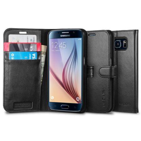 Spigen ovitek Wallet za Samsung Galaxy S6, črn