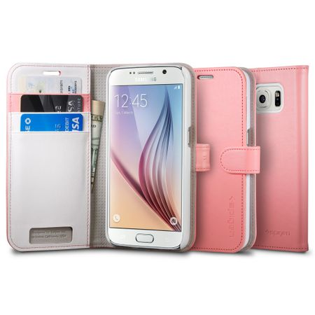 Spigen ovitek Wallet za Samsung Galaxy S6, roza