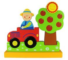 Marionette Magnetické puzzle farma, dřevěné