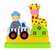 Marionette Magnetické puzzle zoo, drevené