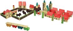 Marionette drewniane miasto, 46 elementów