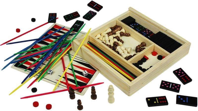 Marionette Stolní hry sada 4v1, dřevěná