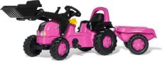 Rolly Toys Różowy traktor dziecięcy