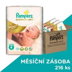Pampers Premium Care Plienky 2 (Mini) 3-6 Kg - 216 ks