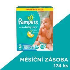 Pampers Active Baby 3 Midi (4-9kg) Megabox Plus - 174 ks