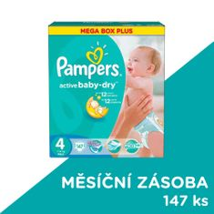 Pampers Pampers Active Baby Pieluchy rozmiar 4, 147 sztuki
