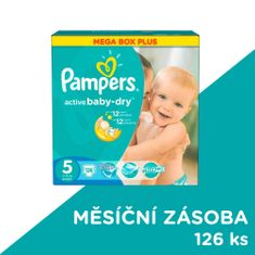 Pampers Pampers Active Baby Plenky velikost 5 126 kusů