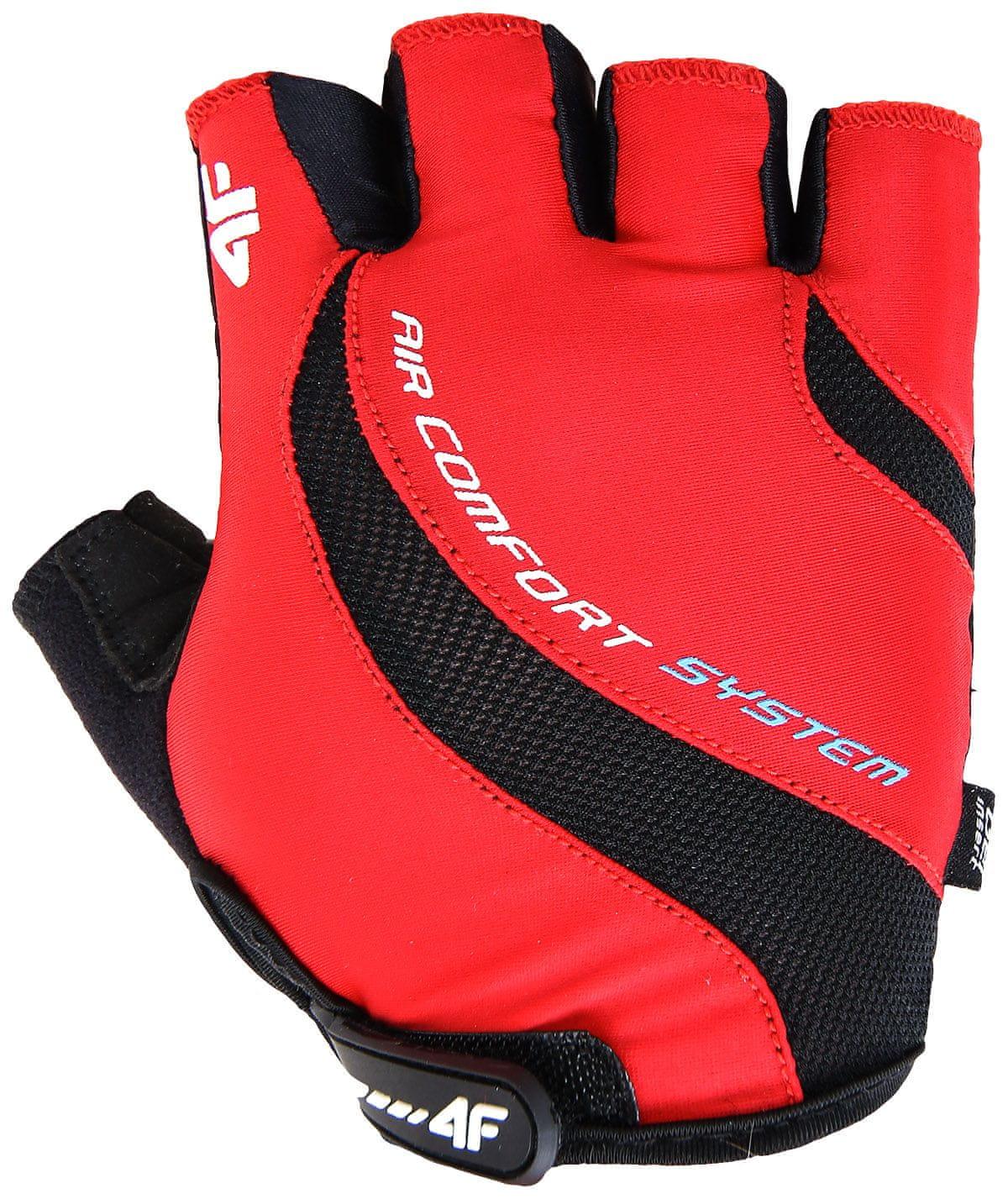 4F Rękawiczki rowerowe RRU002 czerwony, S (C4L15)