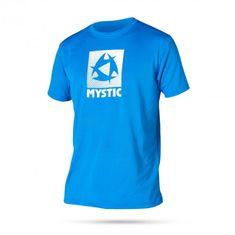 Mystic kratka majica Quickdry Star S/S 400, modra